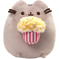 GUND Pusheen Snackables Popcorn Cat Stuffed Plush Gray 9.5 inches
