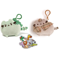 Gund Pusheen Detective And Pushinosaurus Clips Set Of 2